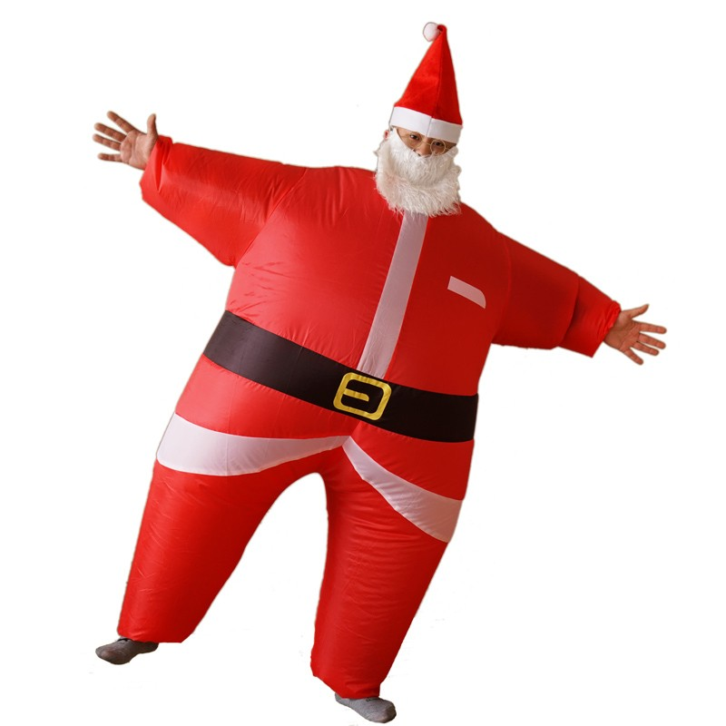inflatable santa claus blow up christmas festive adult fancy dress costume - Blow Up Christmas