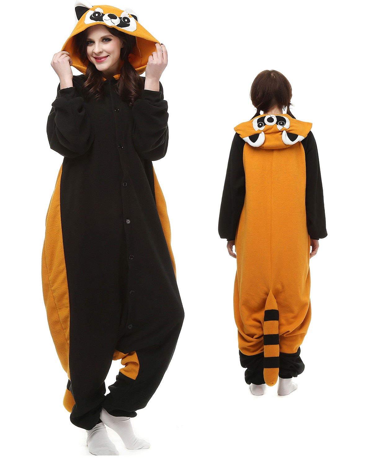 183517388eed Red Panda Raccoon Kigurumi Onesie Pajamas Animal Costumes For Adult