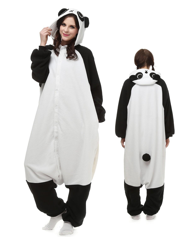 442e8473c1 Panda Kigurumi Onesie Pajamas Animal Costumes For Adult