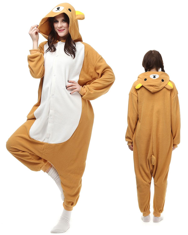 b980e605dbf8 Rilakkuma Kigurumi Onesie Pajamas Animal Costumes For Adult