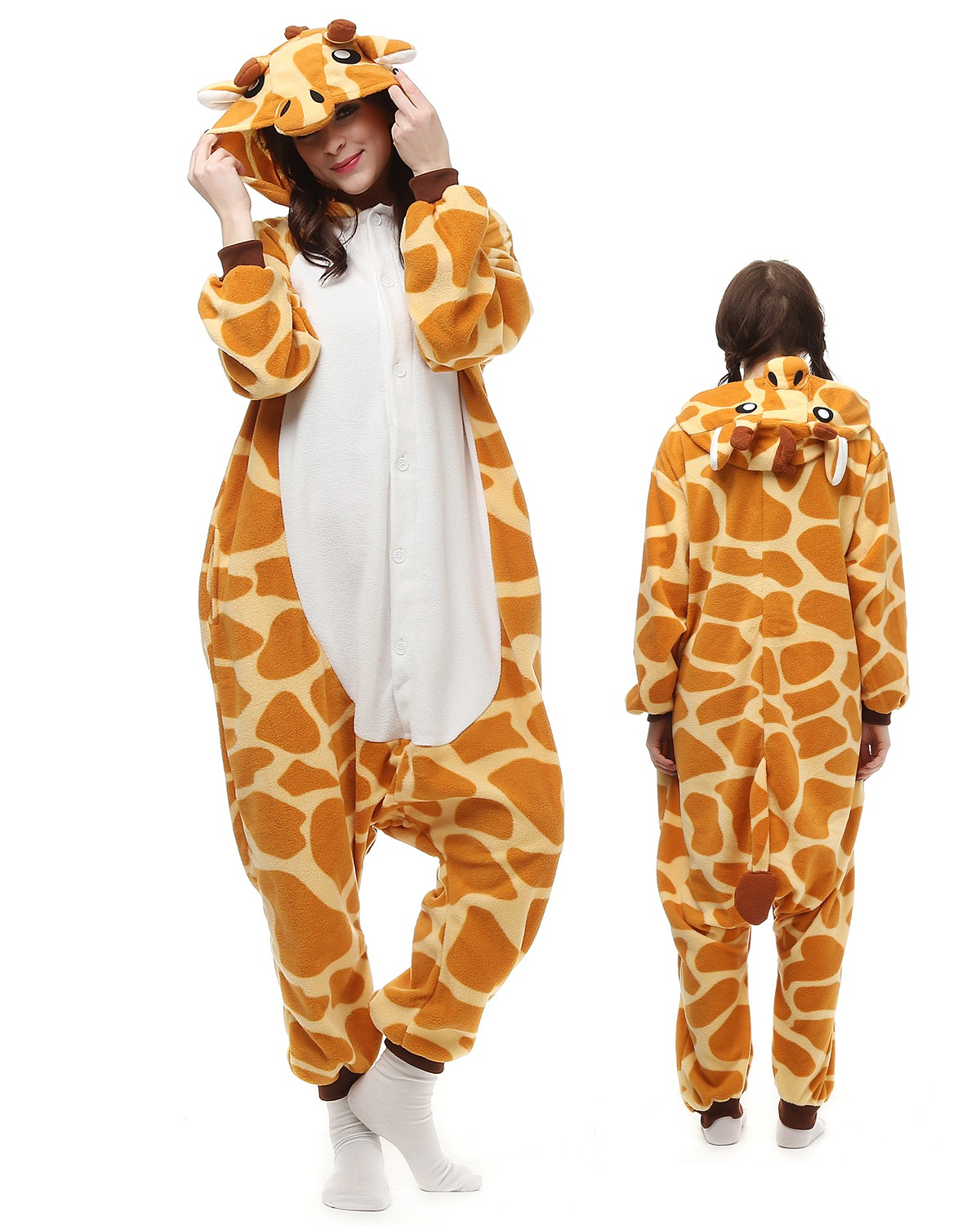 f963bf0ded34 Giraffe Kigurumi Onesie Pajamas Animal Costumes For Adult