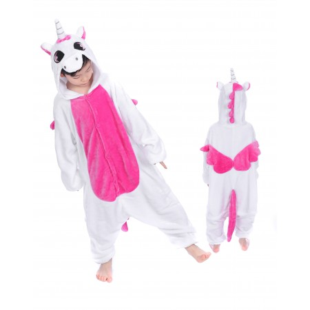 animal kigurumi pink Unicorn onesie pajamas for kids