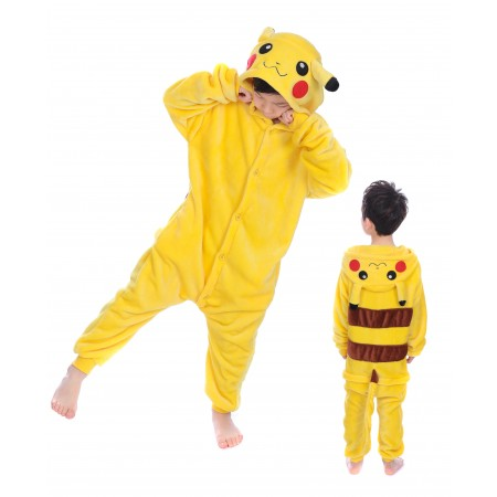 animal kigurumi yellow Pikachu onesie pajamas for kids