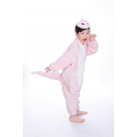 animal kigurumi pink Dinosaur onesie pajamas for kids
