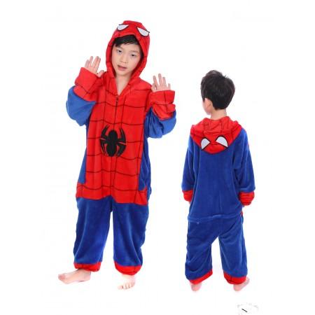 animal kigurumi red blue Spider Man onesie pajamas for kids