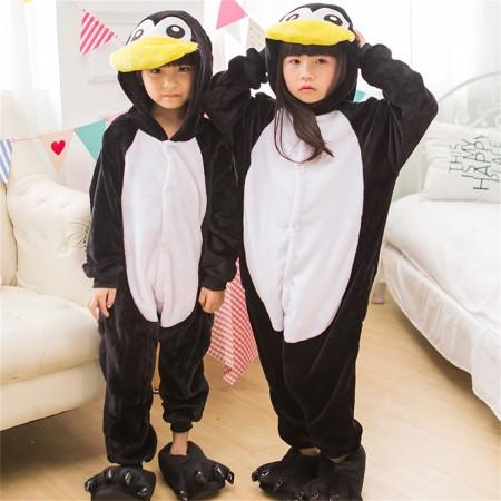 ec9ff7d1ce02 animal kigurumi black white Penguin onesie pajamas for kids