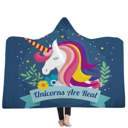 Star Unicorn Hooded Blanket