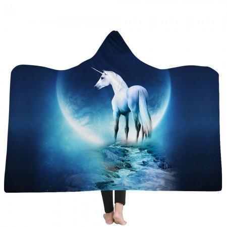 Cool Unicorn Hooded Blanket