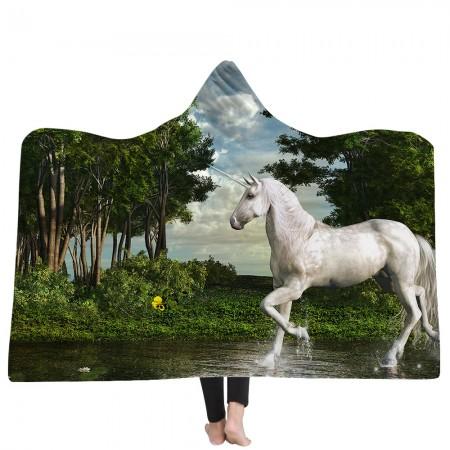 Unicorn King Hooded Blanket