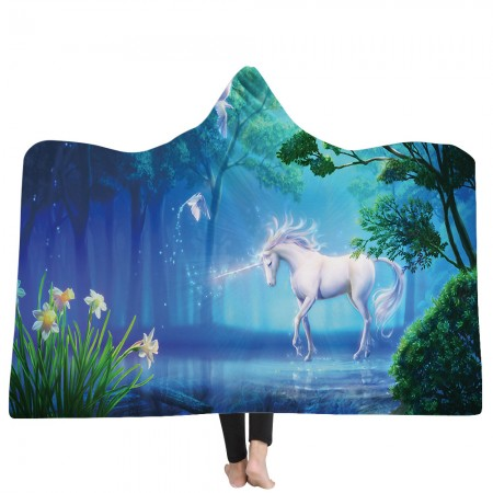Unicorn Myth Hooded Blanket