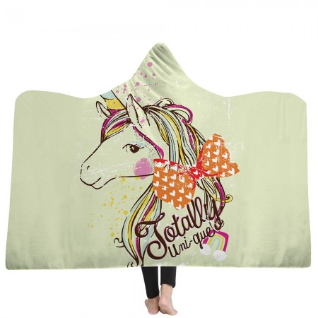 Unique Unicorn Hooded Blanket
