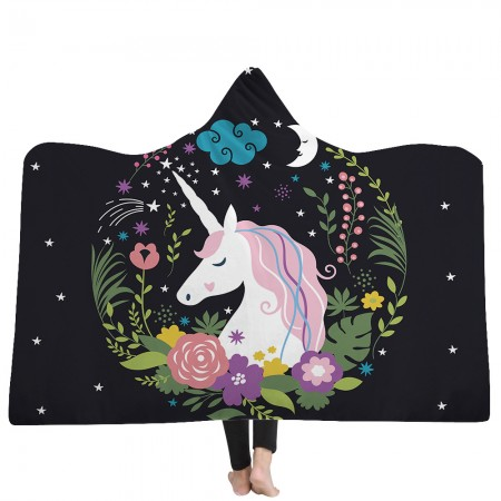 Dream Unicorn Hooded Blanket