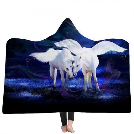 Unicorn Lovers Hooded Blanket