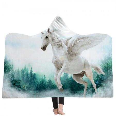 Flying Unicorn Hooded Blanket