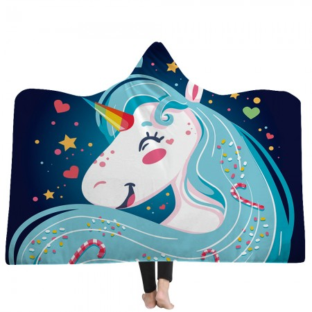 Dream Love Unicorn Hooded Blanket