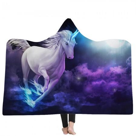 Galaxy Unicorn Hooded Blanket