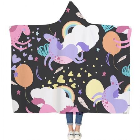 Cute Dream Unicorn Hooded Blanket