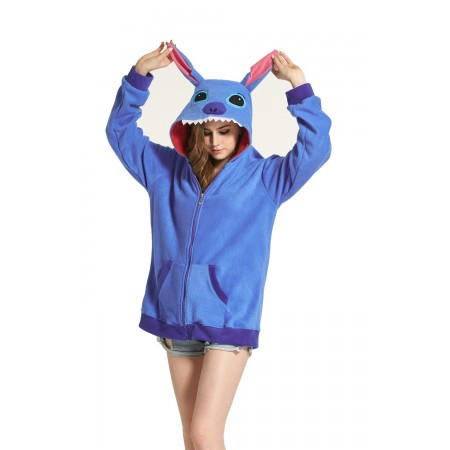 Blue Stitch Animal Kigurumi Fleece Hoodie Coat Jacket