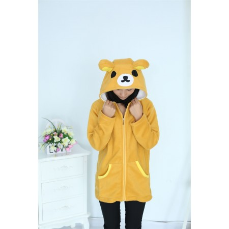 Bear Animal Kigurumi Fleece Hoodie Coat Jacket
