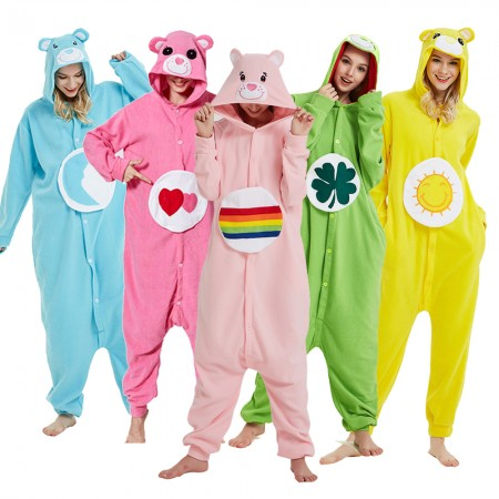 Care Bear Onesie Pajamas Animal Costumes For Women & Men