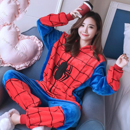 Adult Spider Man Onesie Pajamas Animal Halloween Costumes for Women & Men