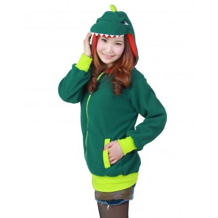 Dinosaur Hoodie Zip Up Costume Coat Jacket