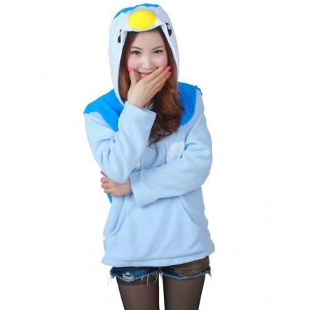 Piplup Hoodie Coat Jacket Zip Up Costume