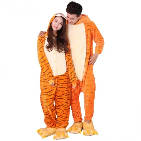 Flannel Winnie the Pooh Tigger Animal Onesies Pajamas Kigurumi Costume
