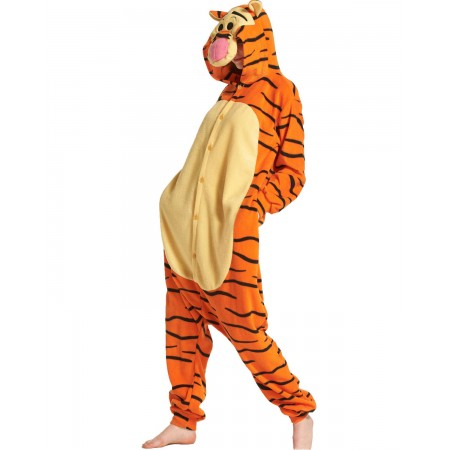 89c571300f Polar fleece Winnie the Pooh Tigger Animal Onesies Pajamas Kigurumi Costume