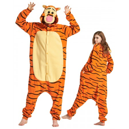Polar fleece Winnie the Pooh Tigger Animal Onesies Pajamas Kigurumi Costume