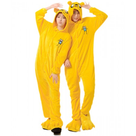 Adventure Time Jake Dog Animal Onesies Pajamas Costume Kigurumi
