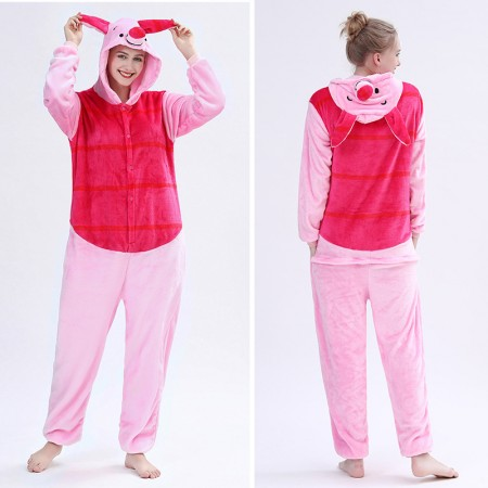 Adult Piglet Onesie Pajamas Animal Halloween Costumes for Women & Men