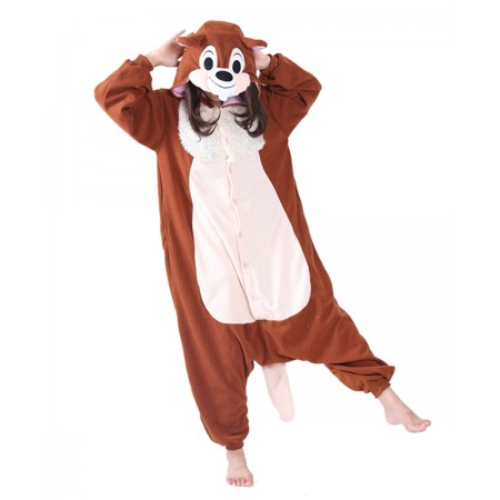 Chipmunks Kigurumi Onesie Pajamas Animal Costumes For Women & Men