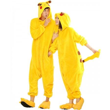 Pikachu Kigurumi Onesie Pajamas Animal Costumes For Women & Men