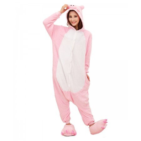 Pink Pig Kigurumi Onesie Pajamas Animal Costumes For Women & Men