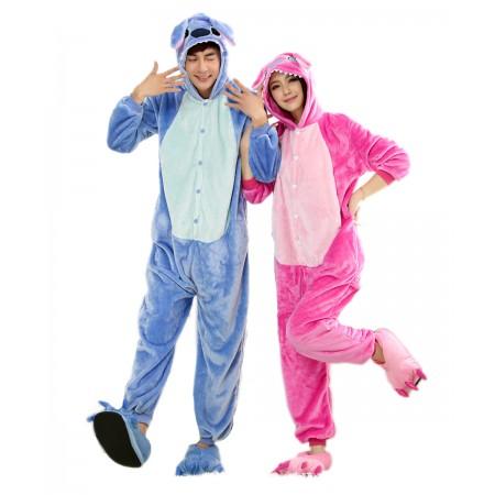 Pink Stitch Kigurumi Onesie Pajamas Animal Costumes For Women & Men