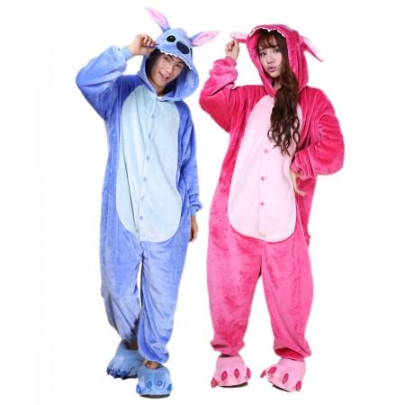 Blue Stitch Kigurumi Onesie Pajamas Animal Costumes For Women & Men