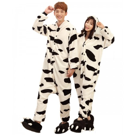 Cow Kigurumi Onesie Pajamas Animal Costumes For Women & Men