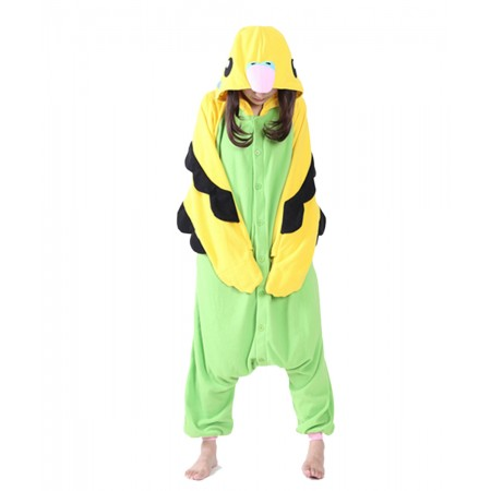 Green Parrot Kigurumi Onesie Pajamas Animal Costumes For Women & Men