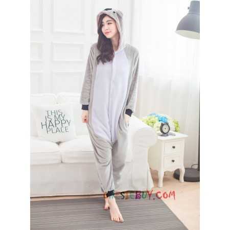 Image of: Grey Koala Amazoncom Koala Kigurumi Onesie Pajamas Animal Costumes For Women Men