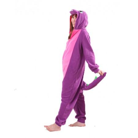 Purople Dragon Kigurumi Onesie Pajamas Animal Costumes For Women & Men