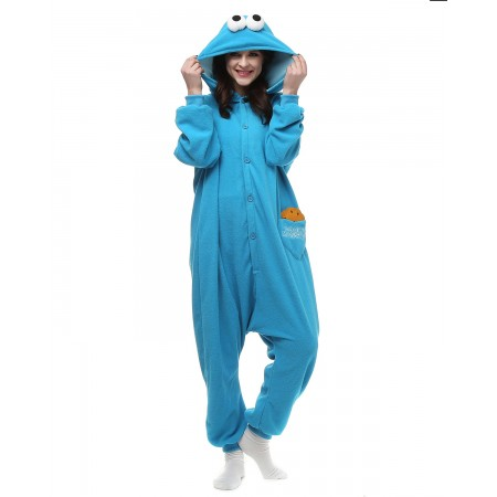 Cookie Monster Kigurumi Onesie Pajamas Animal Costumes For Women & Men