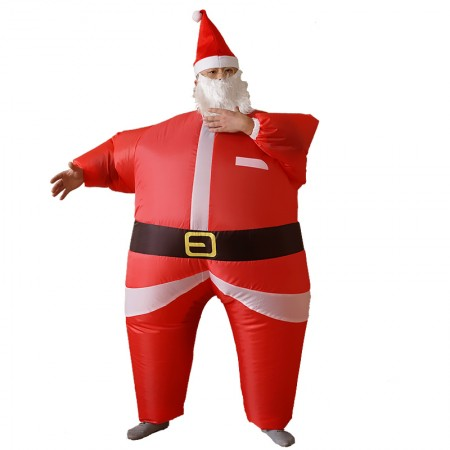 Inflatable Santa Claus Blow Up Christmas Festive Adult Fancy Dress Costume