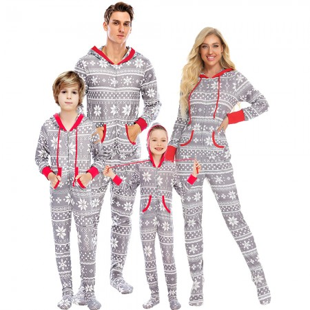 Matching Family Christmas Onesie One-piece Footed Pajamas
