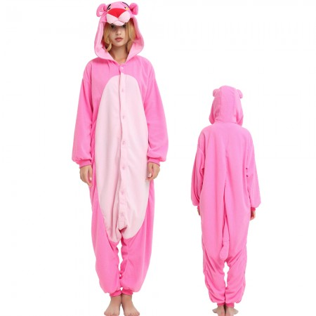 Pink Panther Onesie  Kigurumi Animal Pajamas Costumes For Adult & Teens