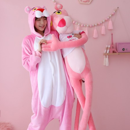 Pink Panther Onesie Pajamas Kigurumi Animal Costumes For Adult & Kids