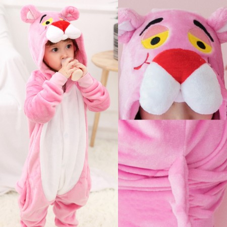 Pink Panther Onesie Pajamas Kigurumi Animal Costumes For Kids & Adult