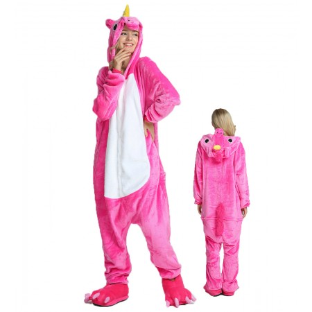 Rose Unicorn Kigurumi Onesie Pajamas Animal Costumes For Women & Men