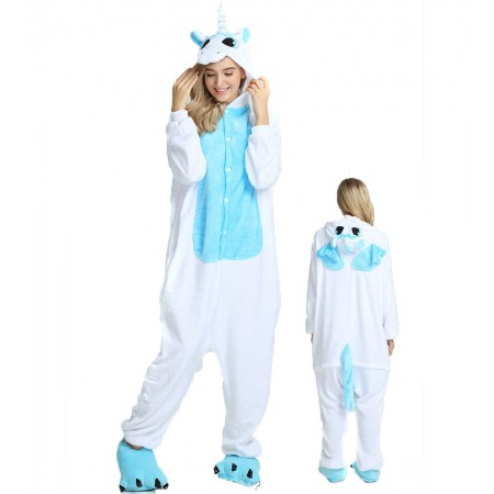 White Unicorn Kigurumi Onesie Pajamas Animal Costumes For Women & Men