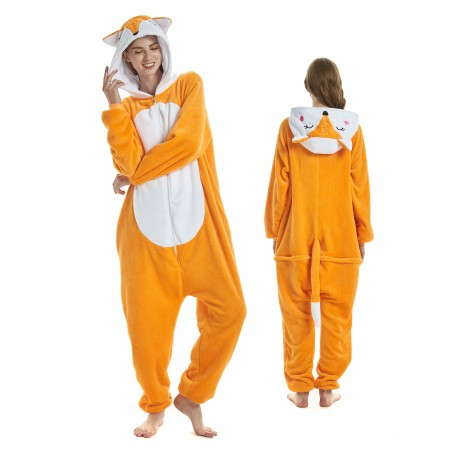 ee0505f9411d Fox Onesie for Adult Kigurumi Animal Pajamas Funny Halloween Costumes